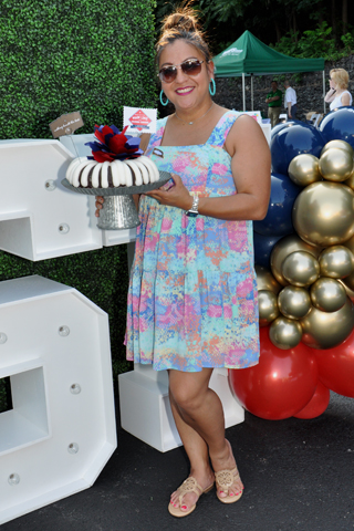 3. Kim Wright, owner of Nothing Bundt Cakes, brought her delicious cakes to the event