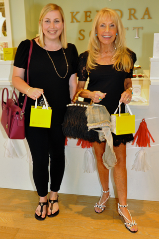 Bridal Consultant Megan Berney and Deborah Van Cleve, President and Founder of the Van Cleve Collection, did some serious shopping during the event!