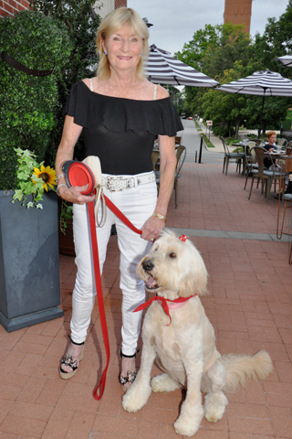 8. Cathy Holland brought her Golden Doodle to the Alpha Cannine benefit event.