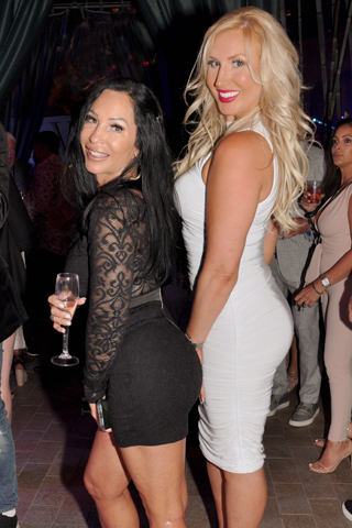 """15. Kim Frick and Lauren Shireinsky showed some """"style"""" at the party!"""