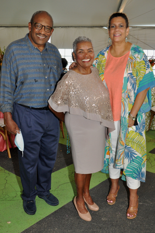 8. Bryan and Joan Carter (left and right) paused for a photo with Dr. Naomi Johnson Booker.