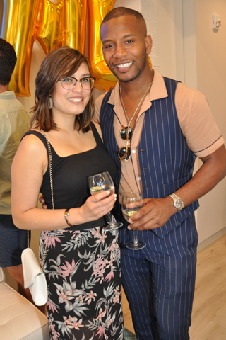 2. Gabrielle Ochoco and Sabir Peele attended the opening event.