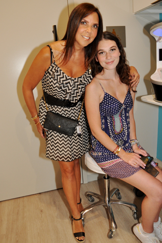 4. Melissa Leonard and her daughter Madison attended the opening event.