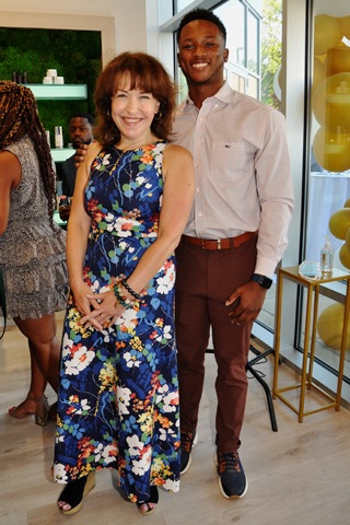 6. Melissa Jacobs of Main Line Tonight came to the event with Calvin McCall.