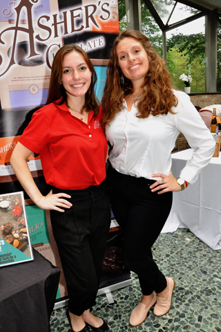 3. Asher's Chocolate Company was represented by Stephanie Affatato and 5th Generation Chocolatier Sophie Asher.