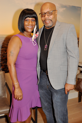 7. Weatta Frazier Collins and her husband Gary Collins attended the event.