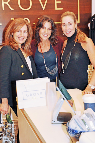 4. Debbie Niggeman of Arrowroot Farmacy shopped at The Grove with owner Sandy Edelstein and Nan Meyers during Bryn Mawr Night.