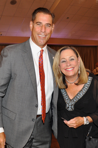 9. CEO Paul Isenberg chatted with Phyllis Fine at the brunch.