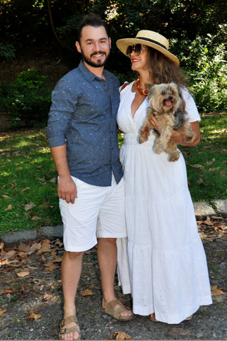 5. Bruno and Lillian Fernandes and their well-behaved poodle!