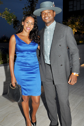 16. Krystle Rich Bell and Don Bell, CBS Sportscaster attended the pool party.