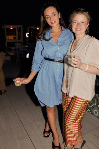 17. Victoria Roggio of Victoria Roggio Beauty Spa and Monica McGraw loved the fabulous pool party.
