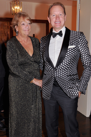 7. Public Relations chair Karin Maynard chatted with her friend and TV personality, Carson Kressley.
