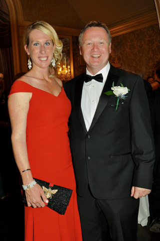 23. Phelps Media Group President Lenore Phillips chatted with Ringmaster Jeff Franzreb at the end of the evening.