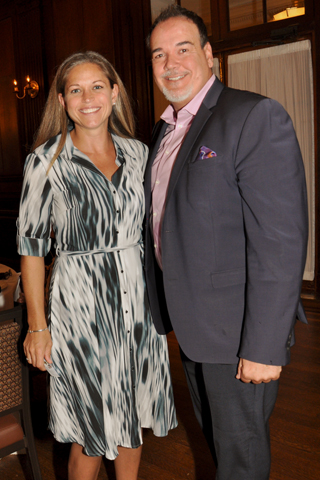 8. Annemarie Caruso of First American Title was pictured with luncheon guest Anthony Izzie.