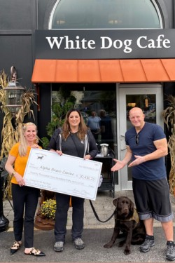 Alpha Bravo Canine Check Presentation takes place at White Dog Cafe in Glen Mills
